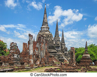 Ayutthaya Historical Park, Thailand. This was at one time a...