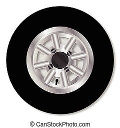 Fast Mini Car Wheel - A typical small car aluminium wheel...