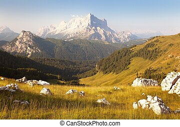 Morning view of Mount Civetta - one of the best mouts in...