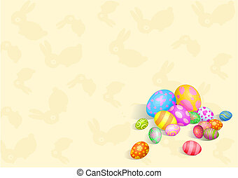 Beautiful Easter eggs background - Beautiful coloring Easter...