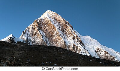 Evening view on top of Kala Patthar and mount Pumo Ri near...