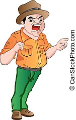 Angry Sergeant, illustration - Angry Sergeant Shouting...