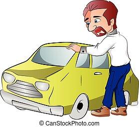 Car Owner, illustration - Car Owner, vector illustration