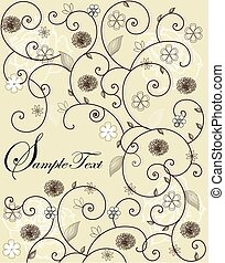 Invitation card with floral design