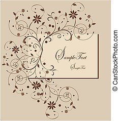 Vector floral background with place for your text