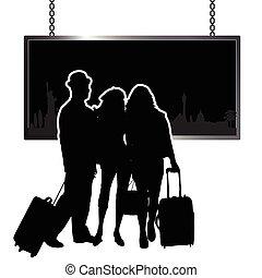 travel people illustration