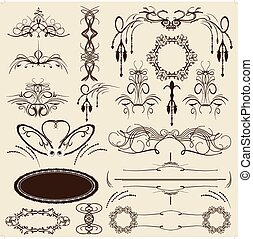 Set of vintage vector elements