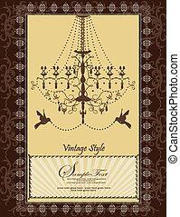 Vector vintage wedding card design