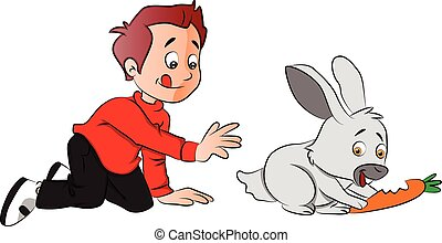 Rabbit eating carrot Illustrations and Clip Art. 154 Rabbit eating ...