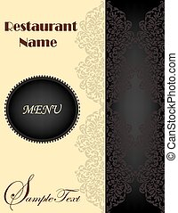 Vintage restaurant menu with ornate elegant retro abstract...