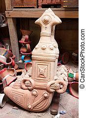 Omani khanjar dagger - Terracotta Omani khanjar dagger for...