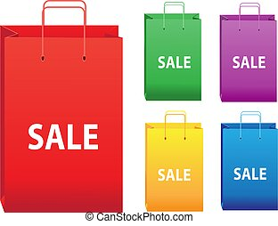 Color sale shopping bags