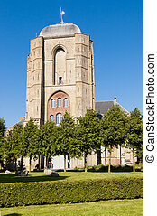 Big Church in Veere, Netherlands - Front of Big Church,...