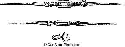 Various Types of Swivels, vintage engraving - Various Types...