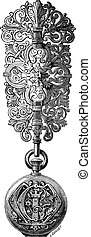 Hook vintage engraving - Old engraved illustration of hook...