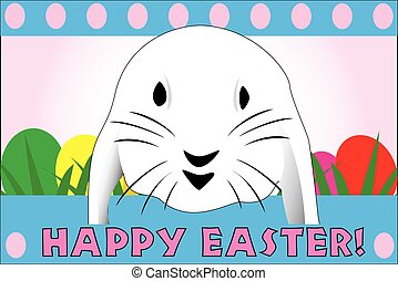 Cute Easter rabbit, great for a quick card