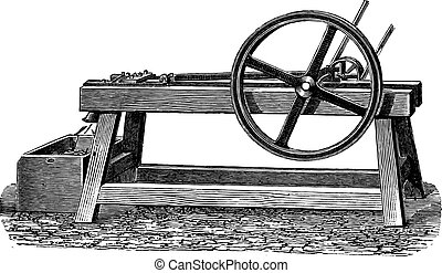 Planing Mill, vintage engraving