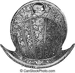 Morion, vintage engraving
