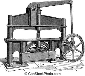 The Machine used to process leather vintage engraving