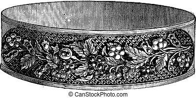 Flower design modern bracelet vintage engraving
