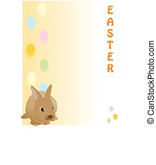 Cute Easter rabbit, great for a quick card, Paper