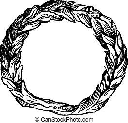 Celtic ring vintage engraving - Old engraved illustration of...