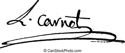 Signature of Lazare Nicolas Marguerite or Comte Carnot...