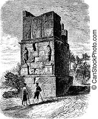 The Scipios Tower, near Tarragona - Drawing of Gaudry, of...