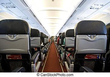 air plane interior