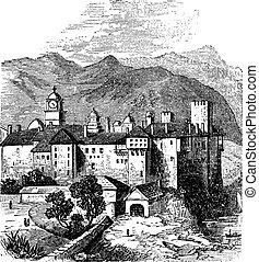 Mount Athos or The Holy Mountain, Macedonia, Greece Vintage...