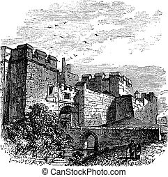 Entrance of the castle Carlisle, in Carlisle, county of...