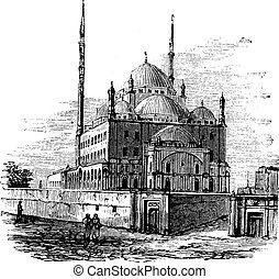 Moské, av, Muhammad, ALI, eller, alabaster,...