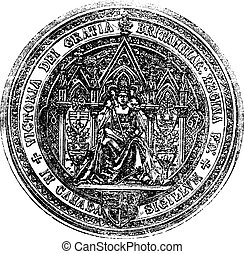 Great Seal Of Canada vintage engraving - Seal Of Canada...