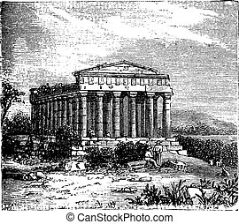 Temple of Concord, Templum Concordiae, in Agrigente, Rome, Italy.