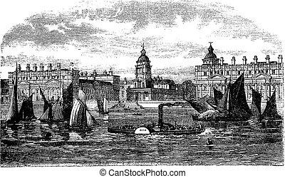 Greenwich Hospital or Royal Hospital for Seamen Greenwich...