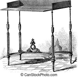 Collection of Mr Double - Table supposed to have belonged to...