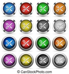 Cut out button set - Set of Cut out glossy web buttons...