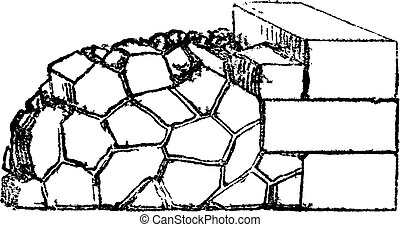 Crazy paving of the Romans contains joints in all...