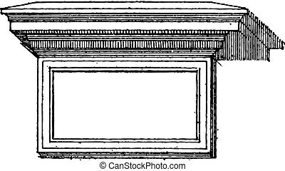 Table (architecture) vintage engraving