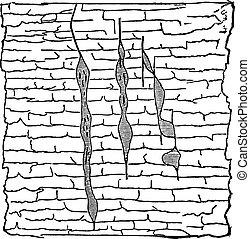 Geological Vein, vintage engraved illustration. - Geological...