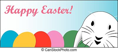 Cute Easter rabbit, great for a quick card or E-Ca