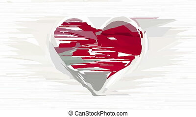 Abstract heart decorative animation - Blurred red heart...
