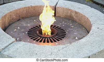 the monument in the form of the eternal flame