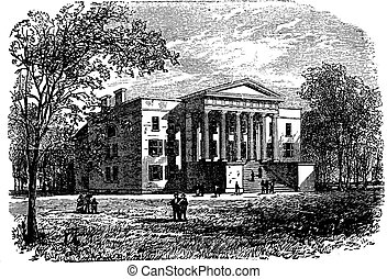 College of Arts, University of Kentucky, Lexington, vintage engraving