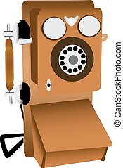Old phone illustration - An illustration of an old fashioned...