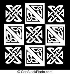 A vector illustration of a Celtic pattern and knots with a...