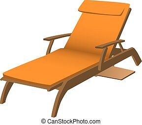 Lounge Chair - Illustration of an orange lounge chair...