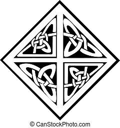 A square celtic knots design