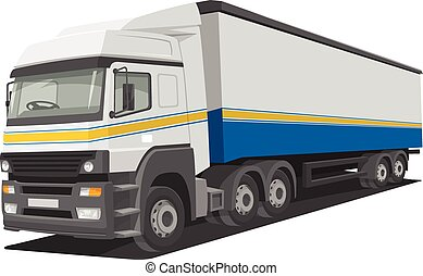 Vector of delivery truck - Vector illustration of heavy...