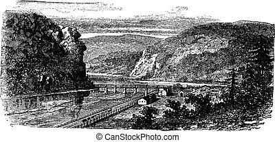 Harper's ferry, West Virginia, United States vintage engraving